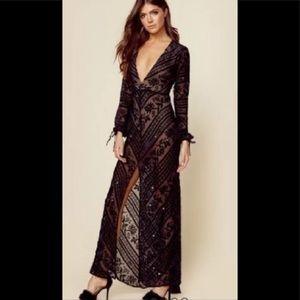 For love and lemons black j'adore maxi dress.
